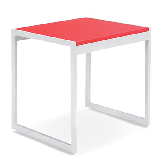 Aria End Table - Red